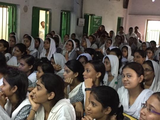 A class of 185 attentive girls