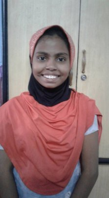Zainab - thrilled to be a Sponsored Girl