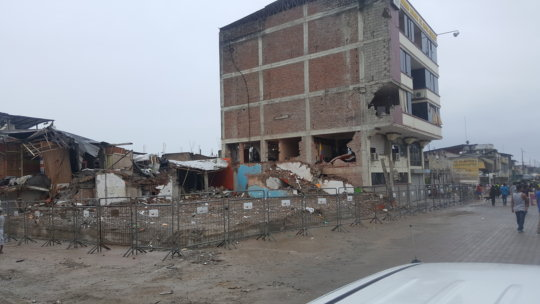 Damage from the April 16 quake in Ecuador