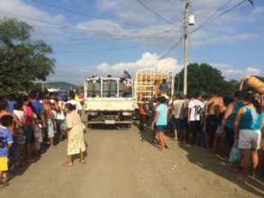Fuel Relief Fund distribution in Porto Viejo