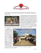 Ecuador Earthquake Response Final Report (PDF)