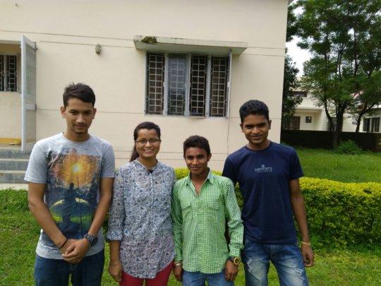 L to R: Tarun, Karishma, Raghuveer and Mukesh