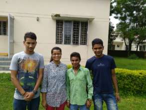 L to R: Tarun, Karishma, Raghuveer and Mukesh