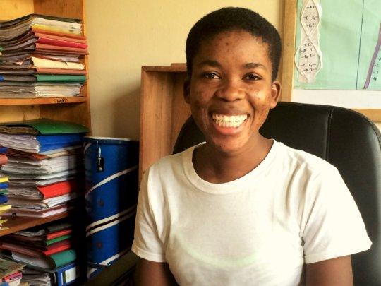 Third-year student Valary