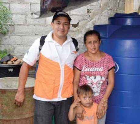 This family received a water tank