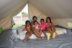 This family received a shelter kit