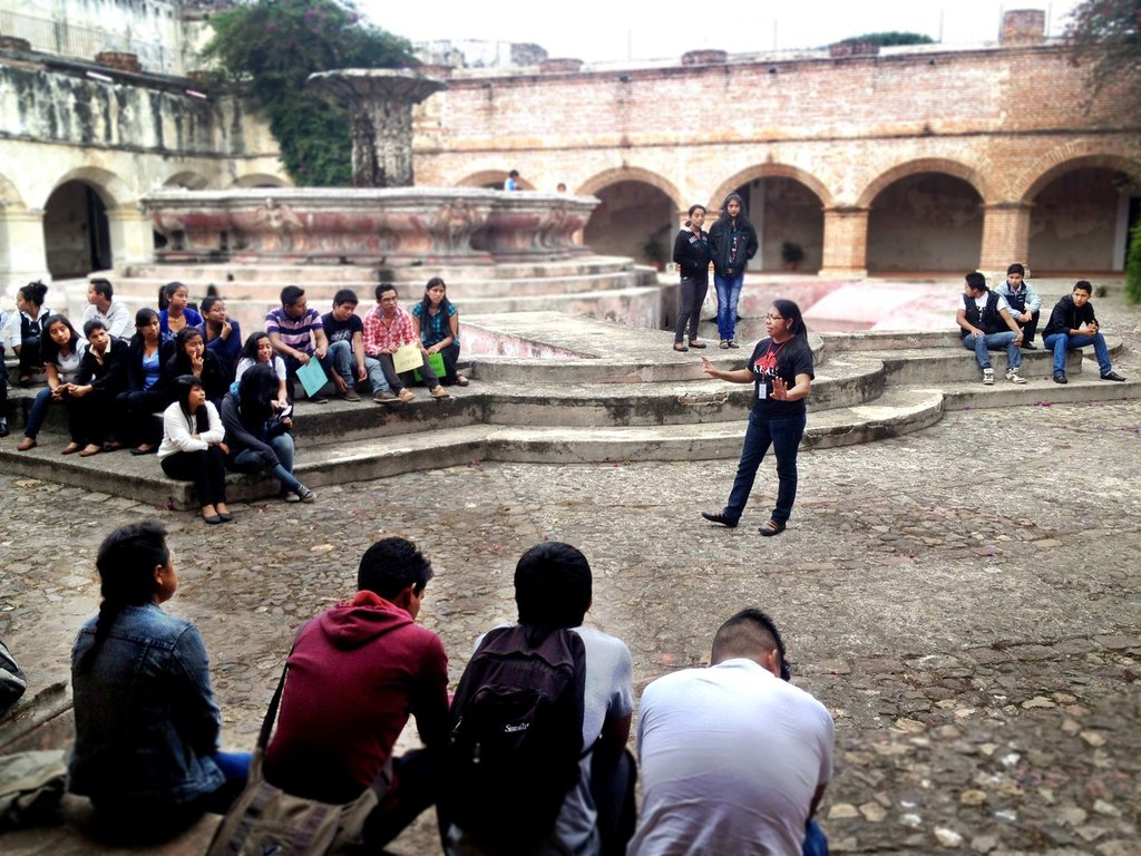Youth participate in educational workshop