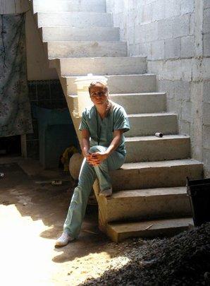 WINGS' nurse Aury takes a quick break