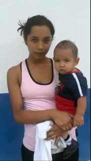 21-year-old Fabiola and her youngest of 3 sons