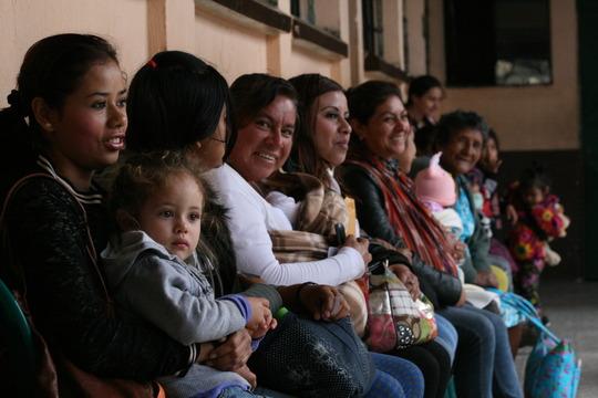 Women wait to be seen by nurses