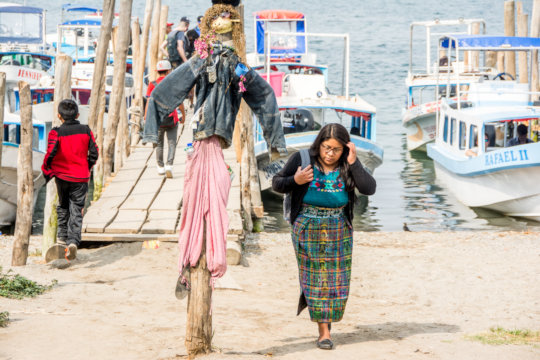 Senayda on her way to a clinic in Panajachel.
