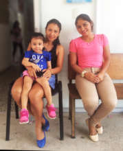 Young mothers at WINGS' mobile clinic