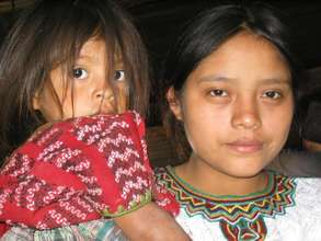 Guatemalan mother with her child