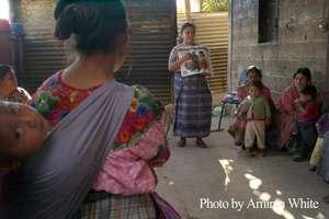 Carmen Roquel giving a family planning talk
