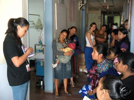 Coordinator Ana explains family planning options