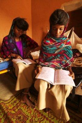 Naiwa and Mouda Studying