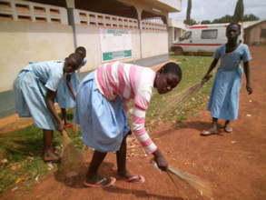 Girls club  outreach clean up Bimbilla hospital