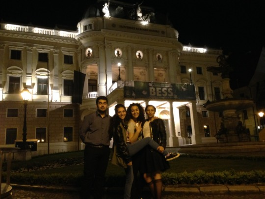 in front of the Slovak National Theatre