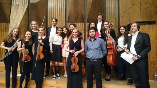 our youth with some members of the orchestra