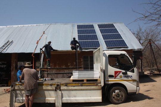 Our new solar panels being installed