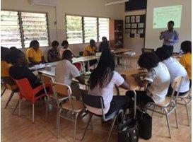 Teacher training in session