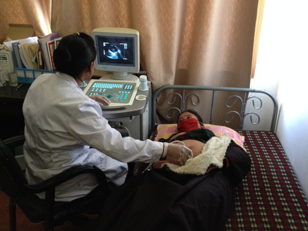 Prenatal ultrasound exam