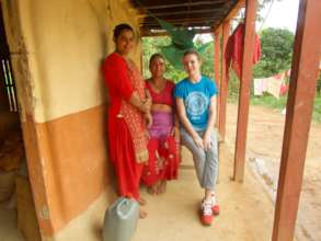 Peace Fellow Caroline with CAED in Nepal