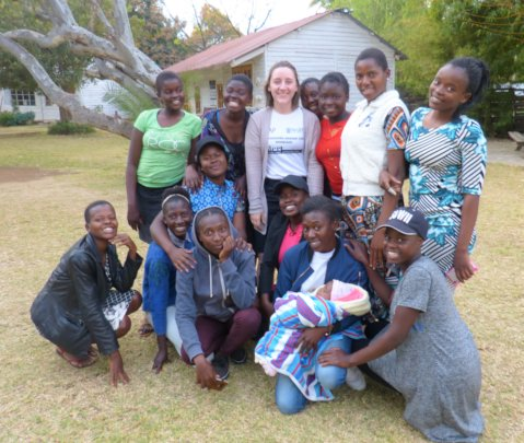 Happier times: McLane and hosts in Zimbabwe, 2019