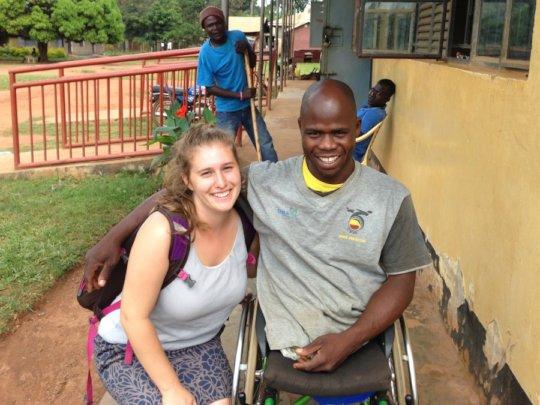 Peace Fellow Kathryn at GDPU in Uganda  (2014)