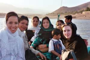 Fellows Ginny and Sarah in Afghanistan, 2004