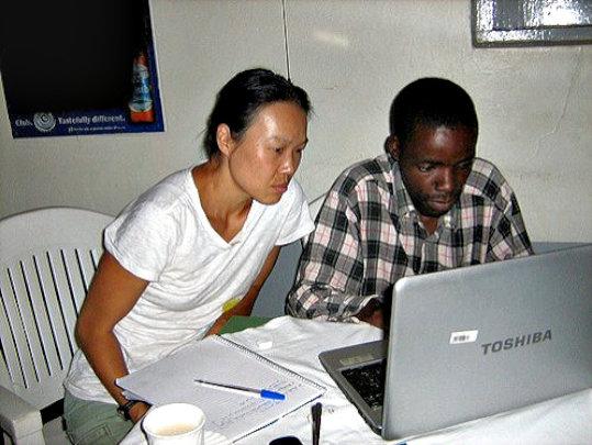Dina offers IT training in Uganda, 2011