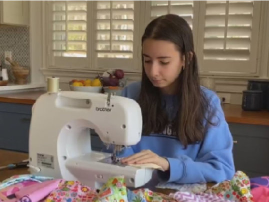 Grace, 18, was profiled on PBS for her maskmaking