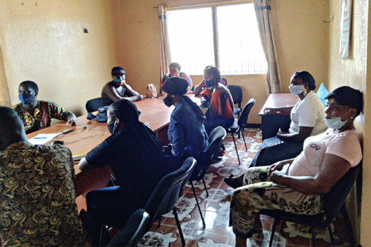 Matthew meets with Ebola survivors in Liberia