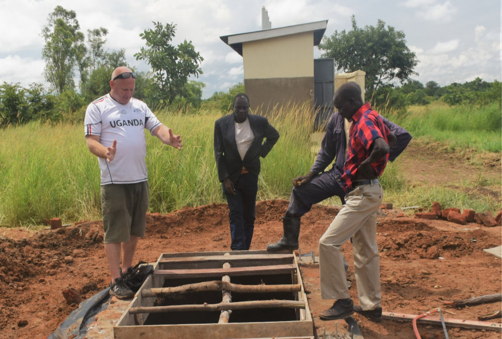 Spencer sizes up the challenge at Abaka in Uganda