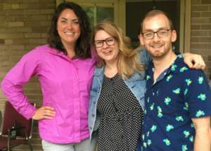 Heading for Africa: Colleen, Alex and Chris