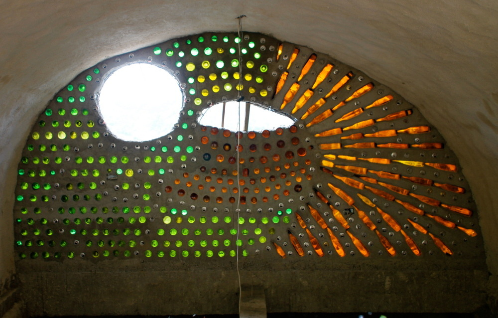 Recycled Glass Used As A Construction Material : Reports on build a school from recycled materials for maya