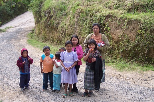 Children and mother enjoying Parque Chimya