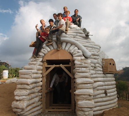 Build a school from recycled materials for Maya