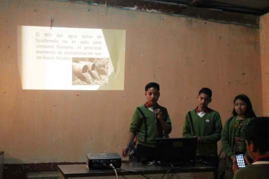 Students presenting community projects