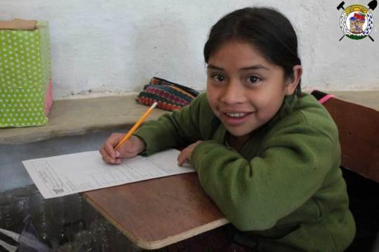 Student writing exam