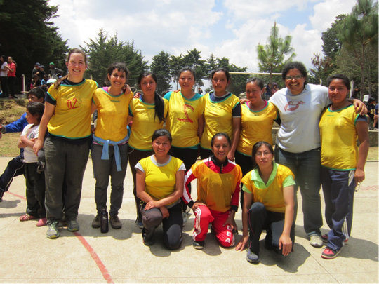 Our powerhouse staff futsal team.