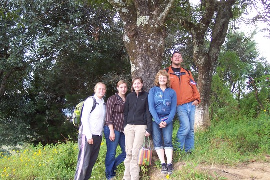 volunteers, staff and Board of Director's viewing the land.