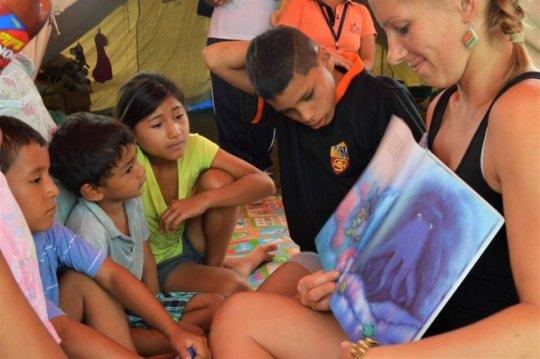 Activities with children.
