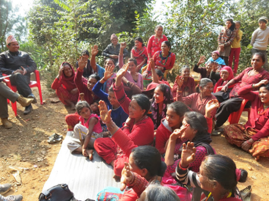 Women participate in self-help group