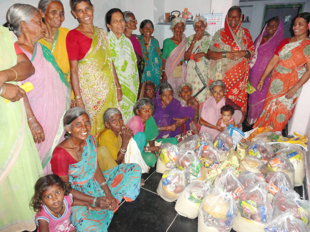 Provide Monthly Groceries for Poor Elderly Person