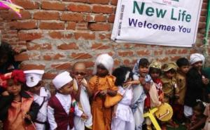 Children dressed as great leaders