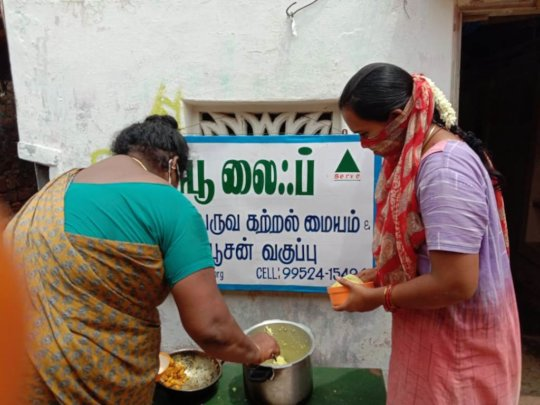 Food to our ELC children received by a mother