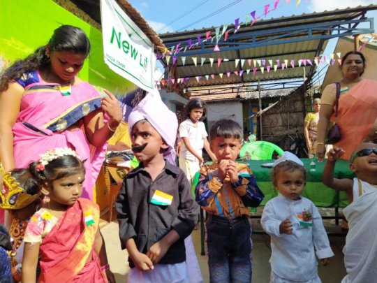 Children dressed as leaders on the Republic Day