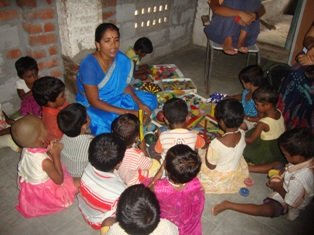 Ensured childhood to 40 deprived children in India
