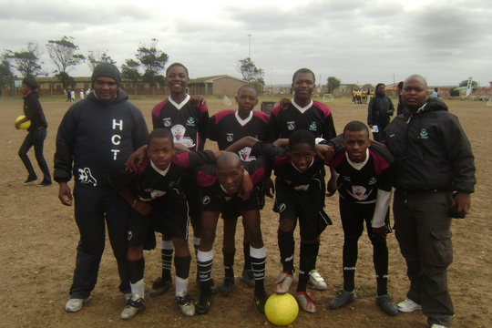 Our Soccer Boys before the match
